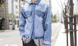 """ MIXED COLOR REWORKES DENIM JACKET """