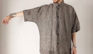 "【HEALTH】""DOLMAN SLEEVE SHIRTS B.CHECK"""