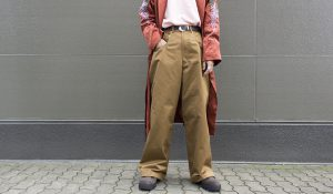 "【LANDLORD】"" COLOR DENIM BAGGY PANT """