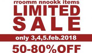 rroomm/nnookk items LIMITED SALE